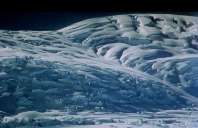 Photo in Nature #antarctica glacier at night #south pole #night #snow
