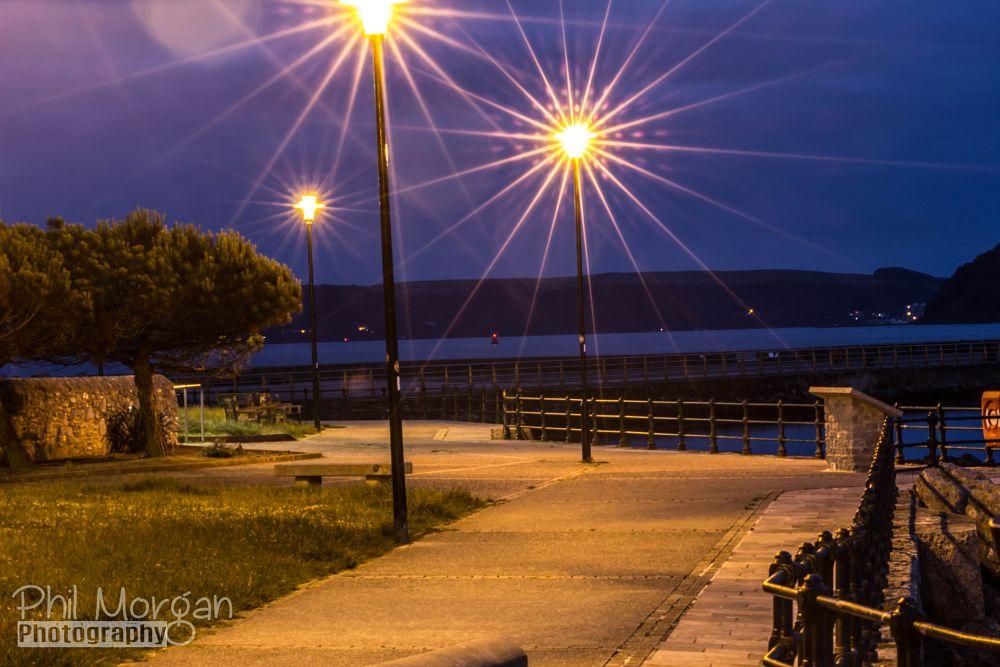 Photo in Random #night photography #lights #path #water