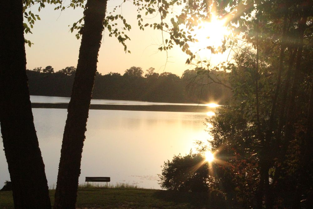 Photo in Landscape #lake #water #sun #sunset #beautiful
