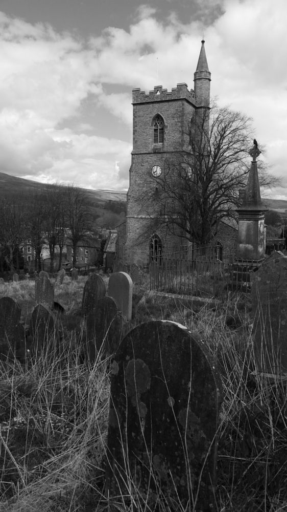 Photo in Black and White #hawes #church #yorkshire #graveyard #grave #monochrome #b&w #black and white