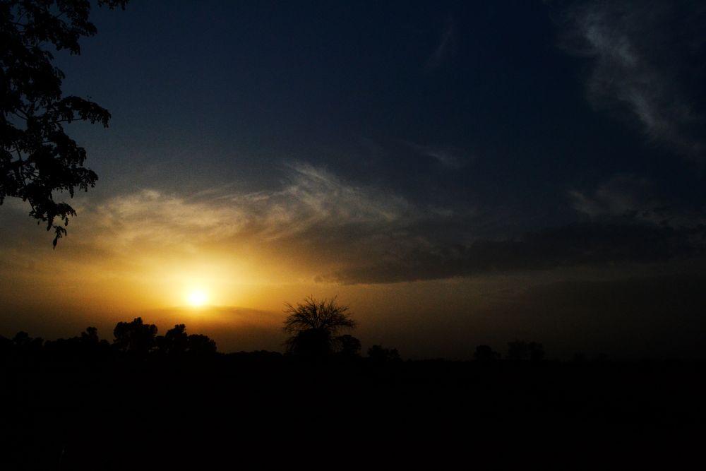 Photo in Random #landscape #sun #silhouette