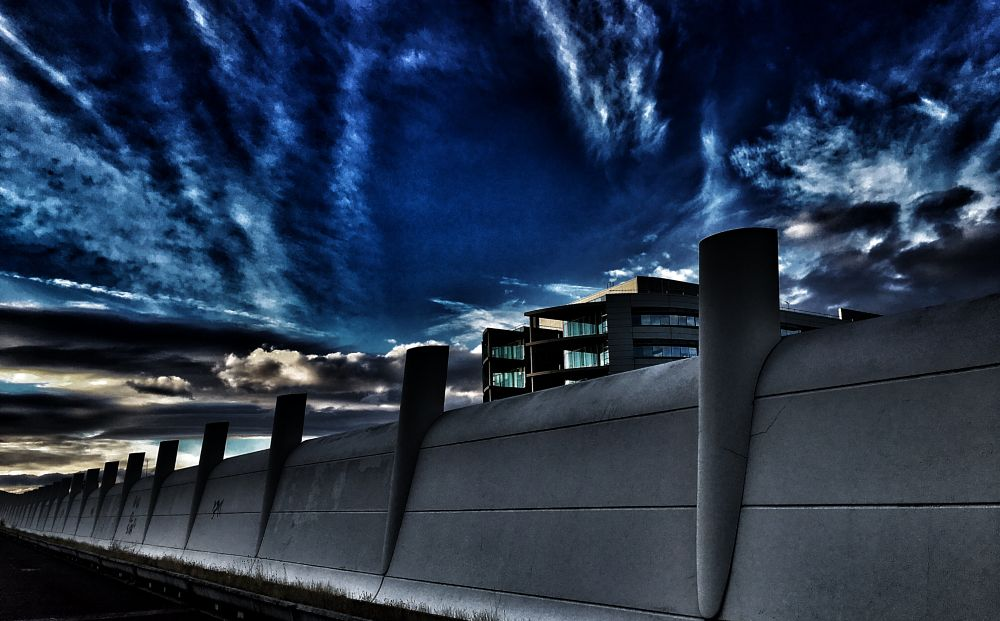 Photo in Street Photography #wall #architecture #city #urban #travel #sky #perspective #clouds #iphone #madrid