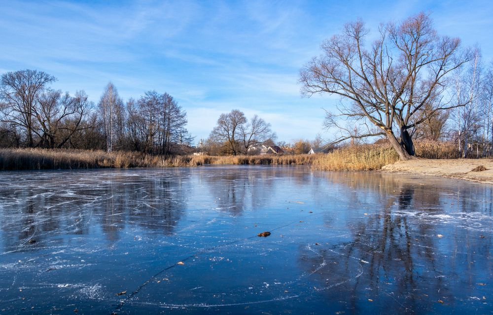 Photo in Landscape #russia #pond #ice