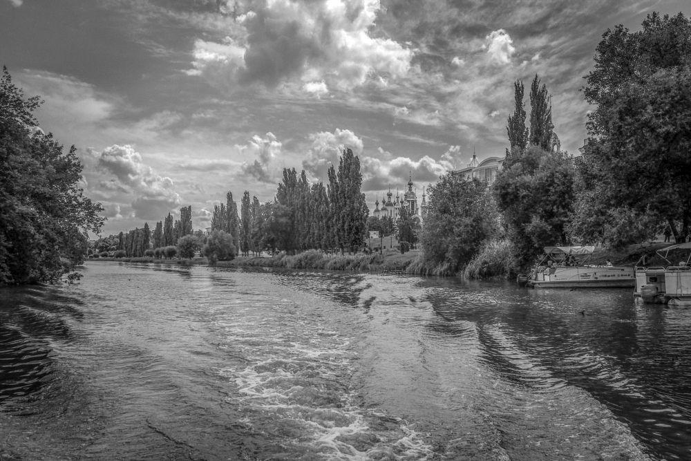 Photo in Black and White #tsna #river #b&w
