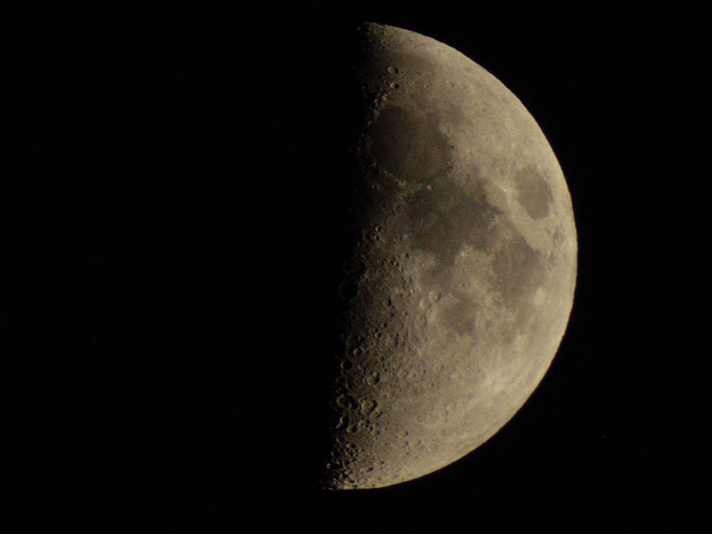 Photo in Astrophotography #moon first quarter