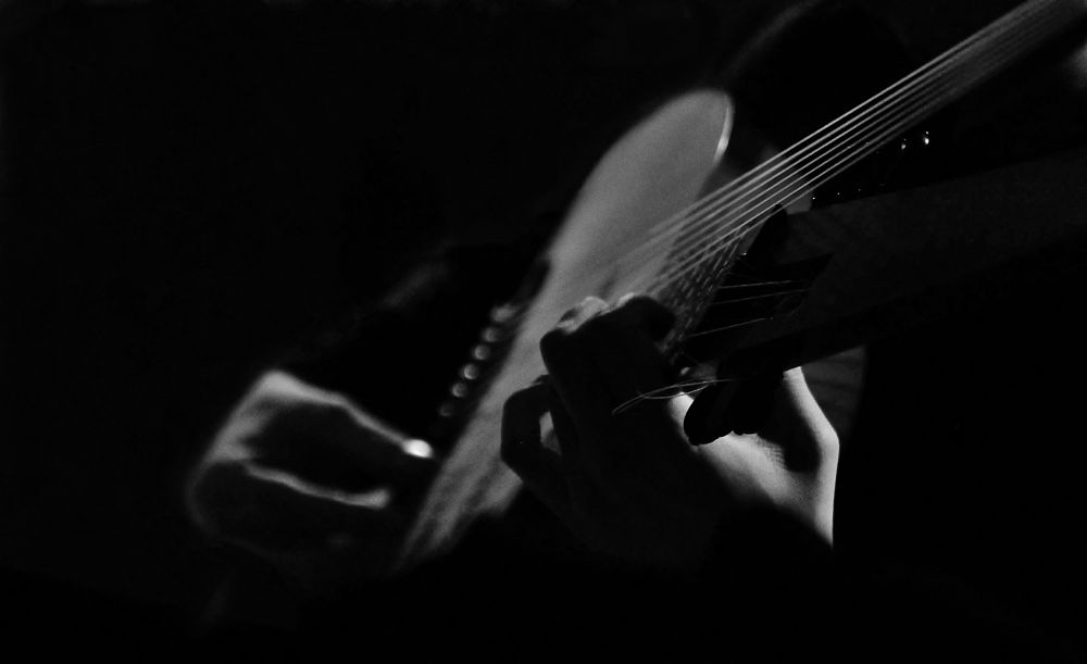 Photo in Random #tiorbo #music #musicianhands #selectivefocus #b&w
