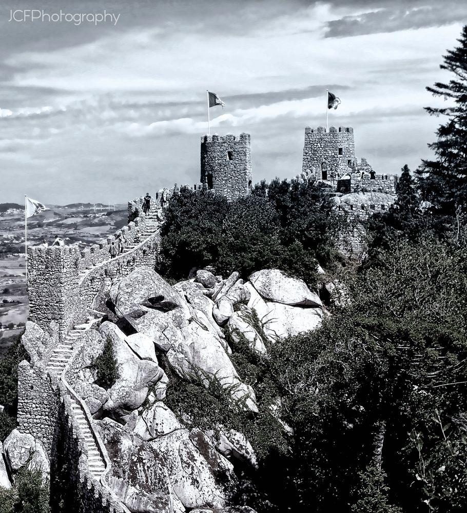 Photo in Black and White #architecture #monchrome #travel #sintra #castle #portugal #texture #perspective #landscape #view #blackandwhite #blancoynegro #monocromo
