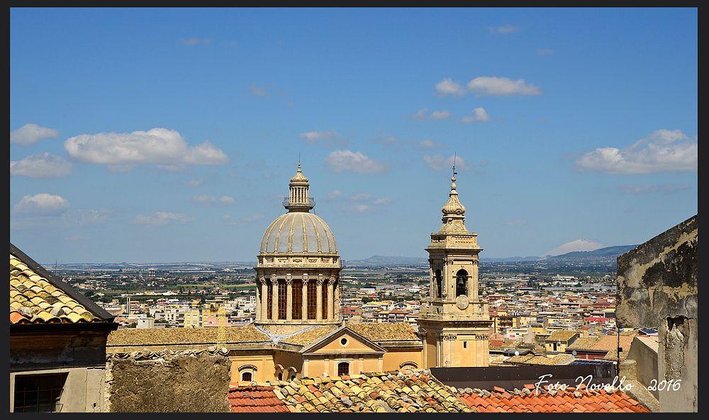 Photo in Landscape #comiso #panorama #campanili