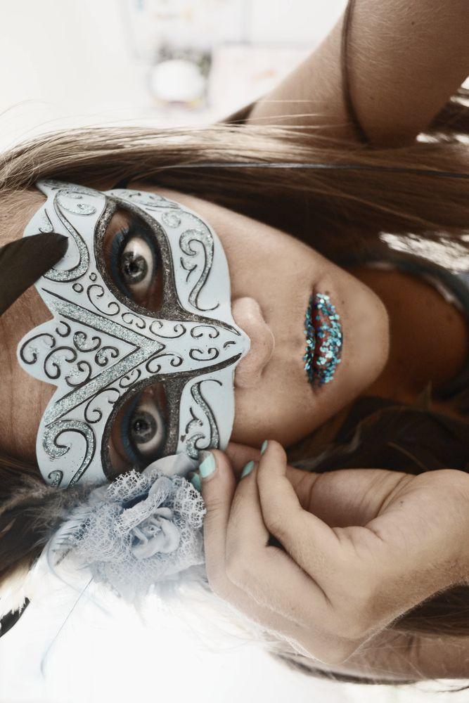 Photo in Portrait #girl #magic #blue #strange #carnival #people #portrait #princess #mask #self portrait