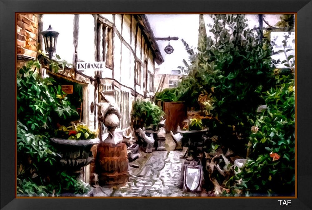 Photo in Random #art #oil #painting #back #yard #court #england #stratford #fine #avon #canvas #shakespeare