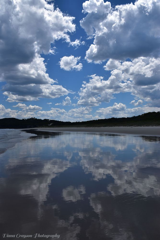 Photo in Landscape #fluffyclouds reflection para