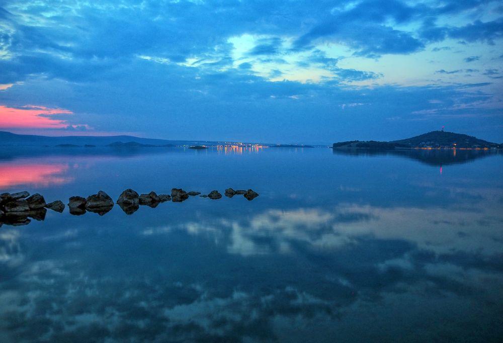 Photo in Sea and Sand #sea #blue #reflection #seascape