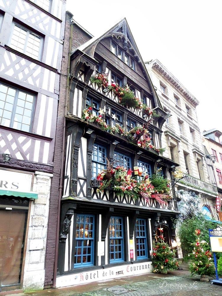 Photo in Travel #la couronne #rouen #normandy #france #oldest inn #1345