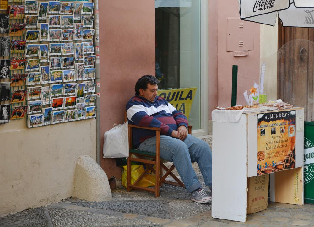 Photo in People #personas #almendras #venta callejera #siesta #en la calle