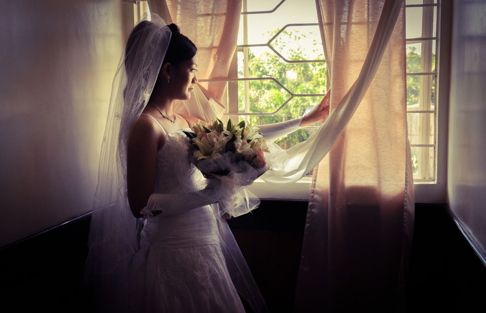 Photo in People #bride #people #awaiting