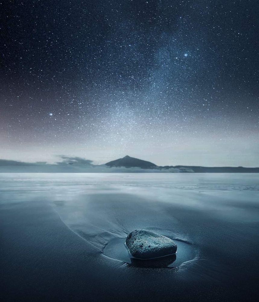 Photo in Fine Art #stars water stone night mi