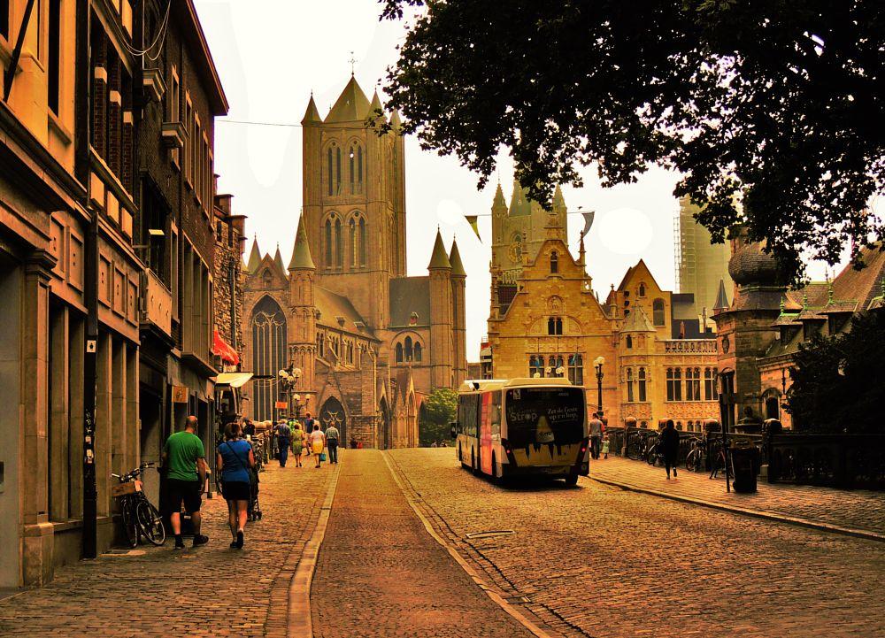 Photo in Travel #ghent #belgium #towncentre #tourist #saintnicholaschurch