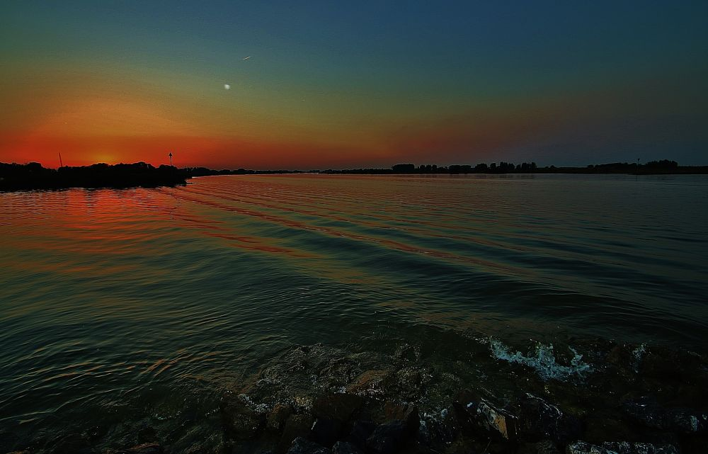 Photo in Landscape #colours #land #water #sunset #orange #sky #love #view #magic