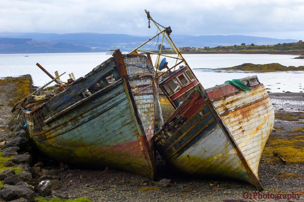 Photo in Travel #boat #ship #wreck #abandoned #isle of mull #scotland