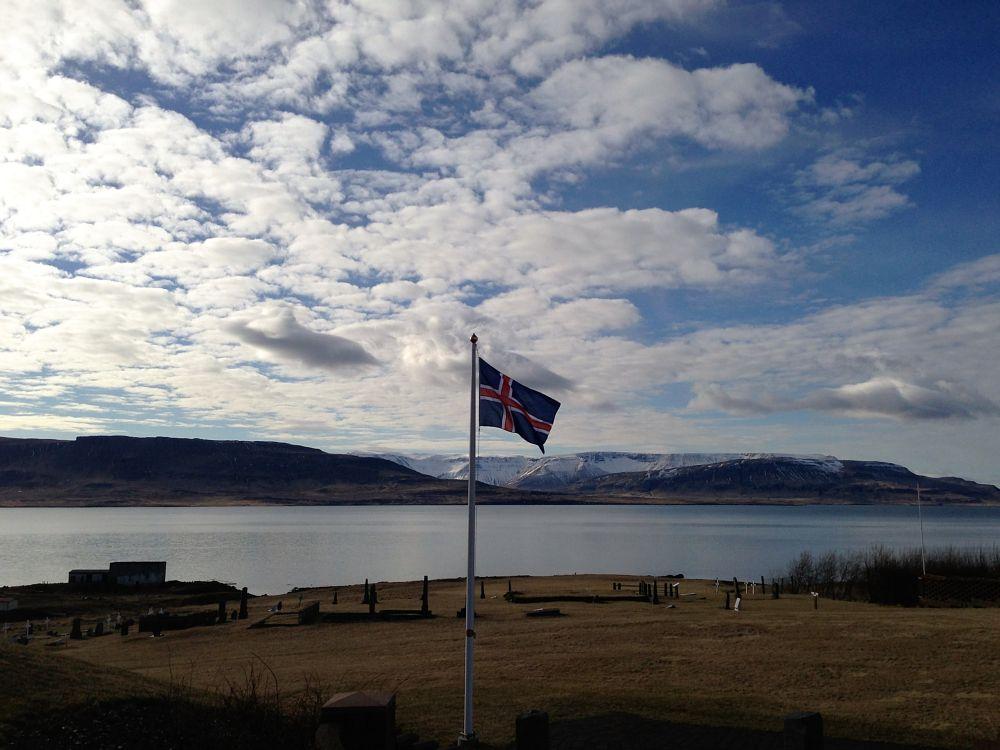 Photo in Landscape #flag #iceland #fjord