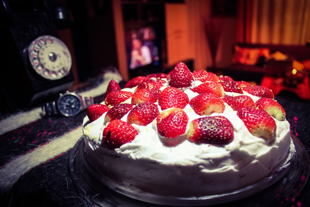 Photo in Food #pie #strawberry #light #food