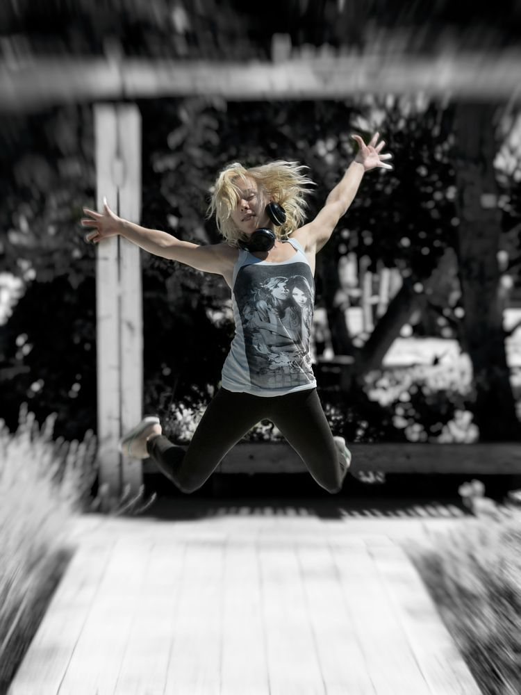 Photo in Portrait #model #outdoor #jump #dancer #young #female #girl #beauty