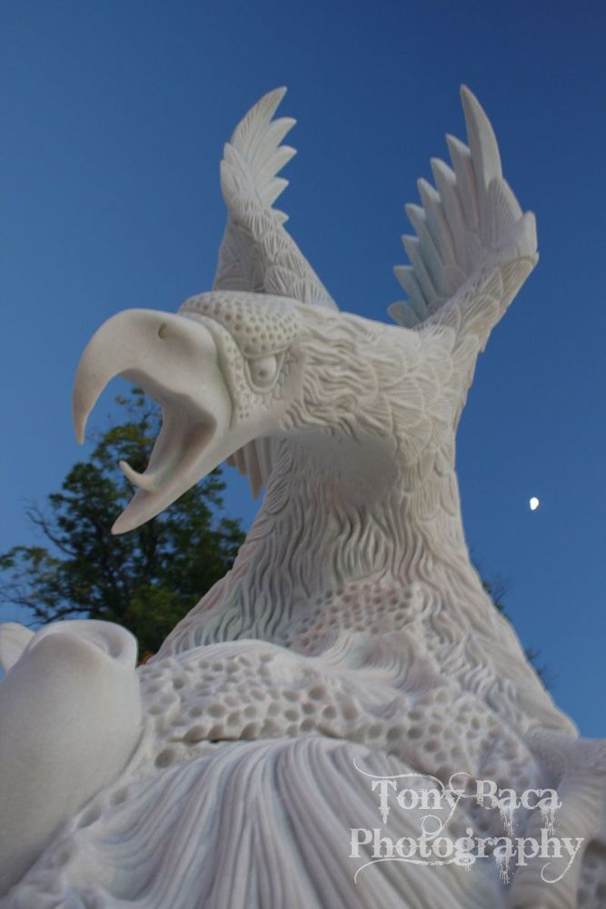 Photo in Abstract #statue #fort sill #oklahoma #eagle #tony baca #photography #marble #army #memorial #canon