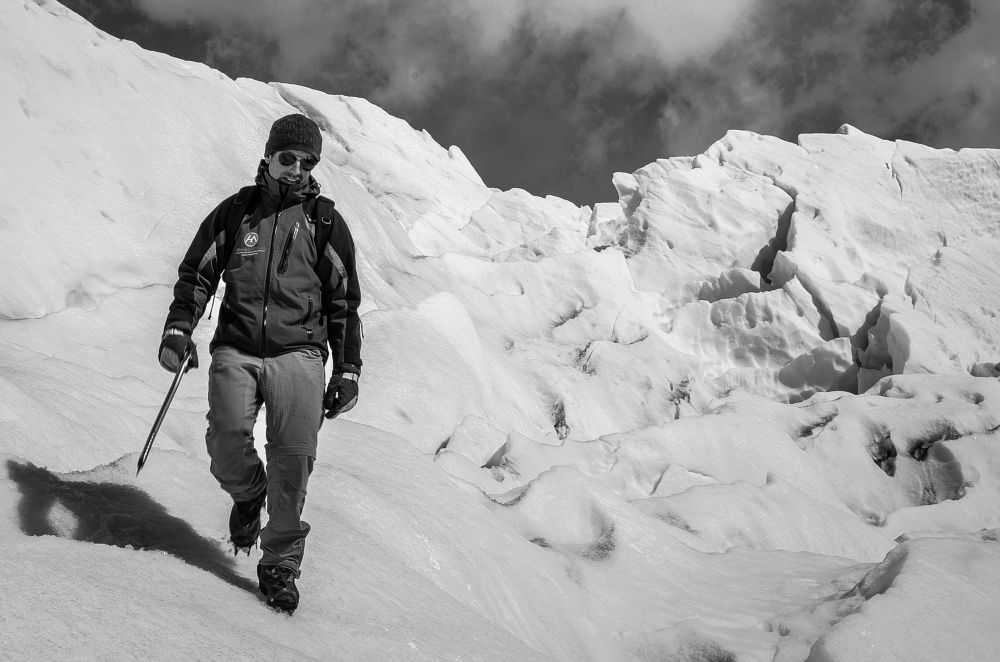 Photo in Black and White #glacier #glaciar #andes #perito moreno #america latina #argentina #blanco y negro #hielo