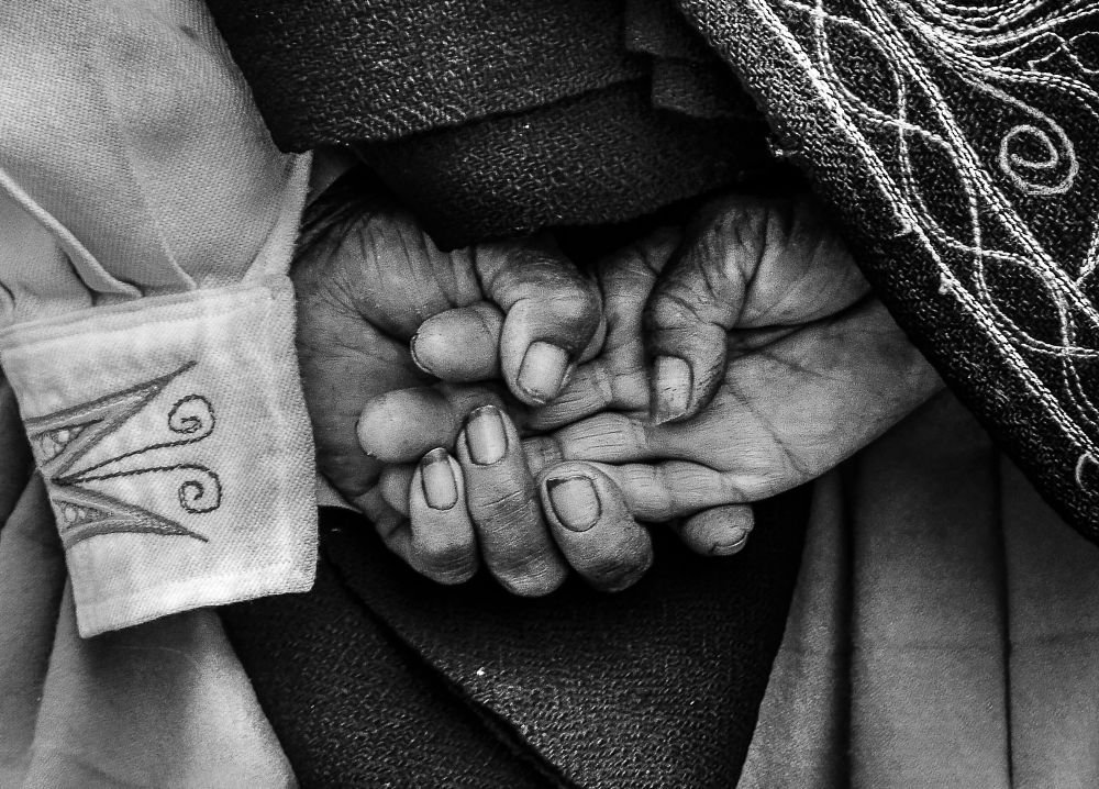 Photo in Black and White #chola #hands #titicaca #inca