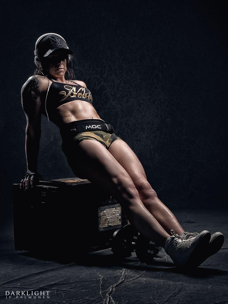 Photo in People #woman #gym #sport #fitness #pump #blank #light #hard #side