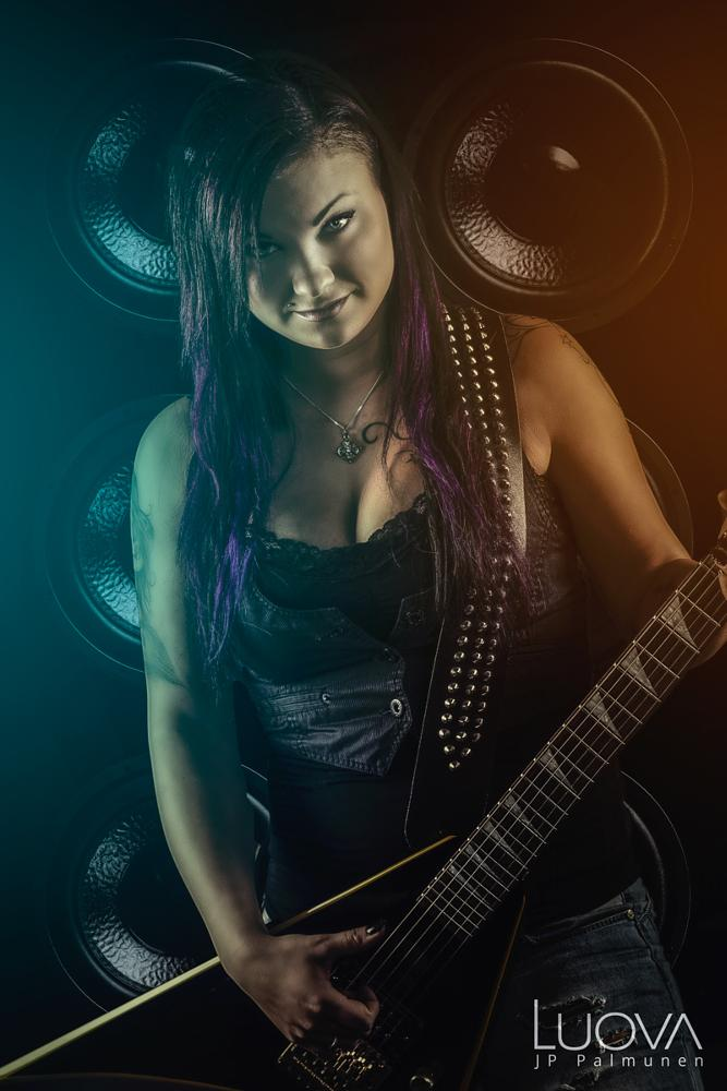 Photo in Portrait #woman #sexy #guitar #portrait #music #rock #bad