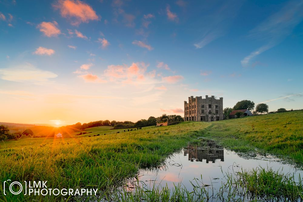Photo in Landscape #sunset #castle #reflection #derry #tyrone #donemana