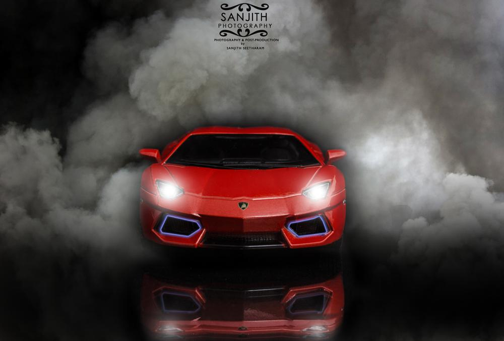 Photo in Product #car #smoke #light #reflection