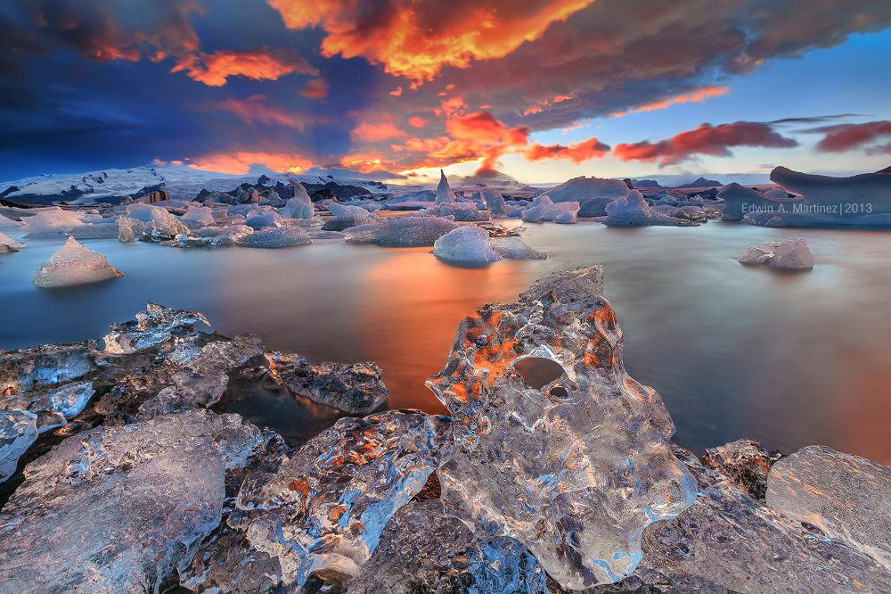 Photo in Landscape #edwin martinez #landscape #iceland #jokursalon #sunset #filipino landscape photographe #chasing light philippines