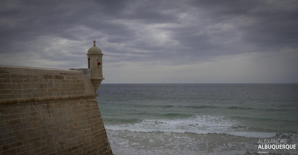 Photo in Landscape #peniche #forte #beach #clouds