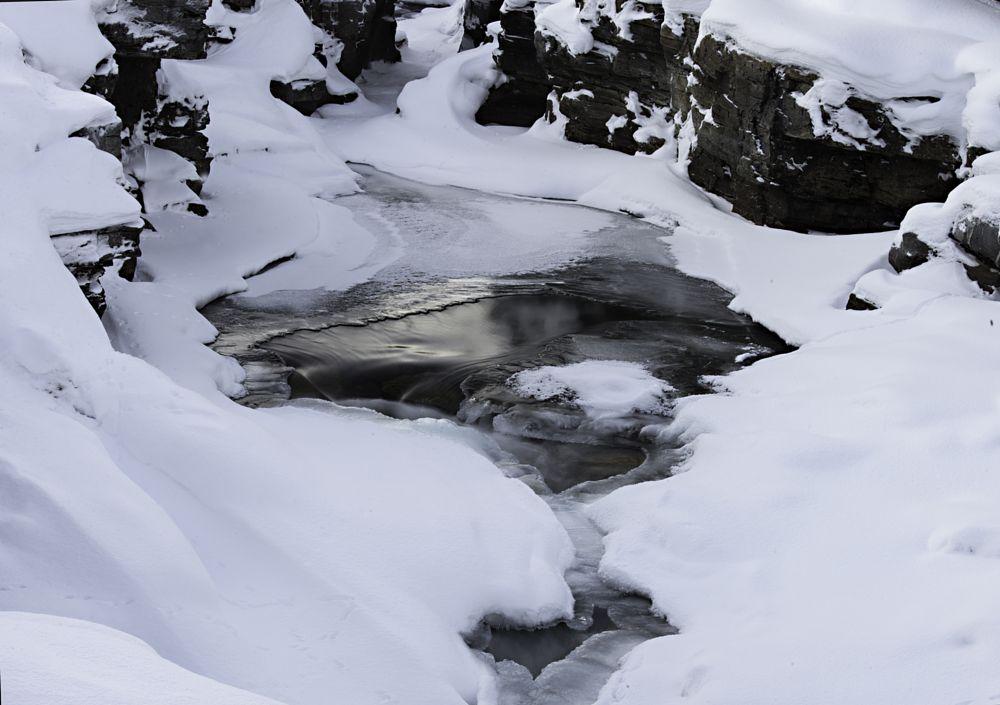 Photo in Landscape #abisko #abisko canyon #abiskojokka #winter #river