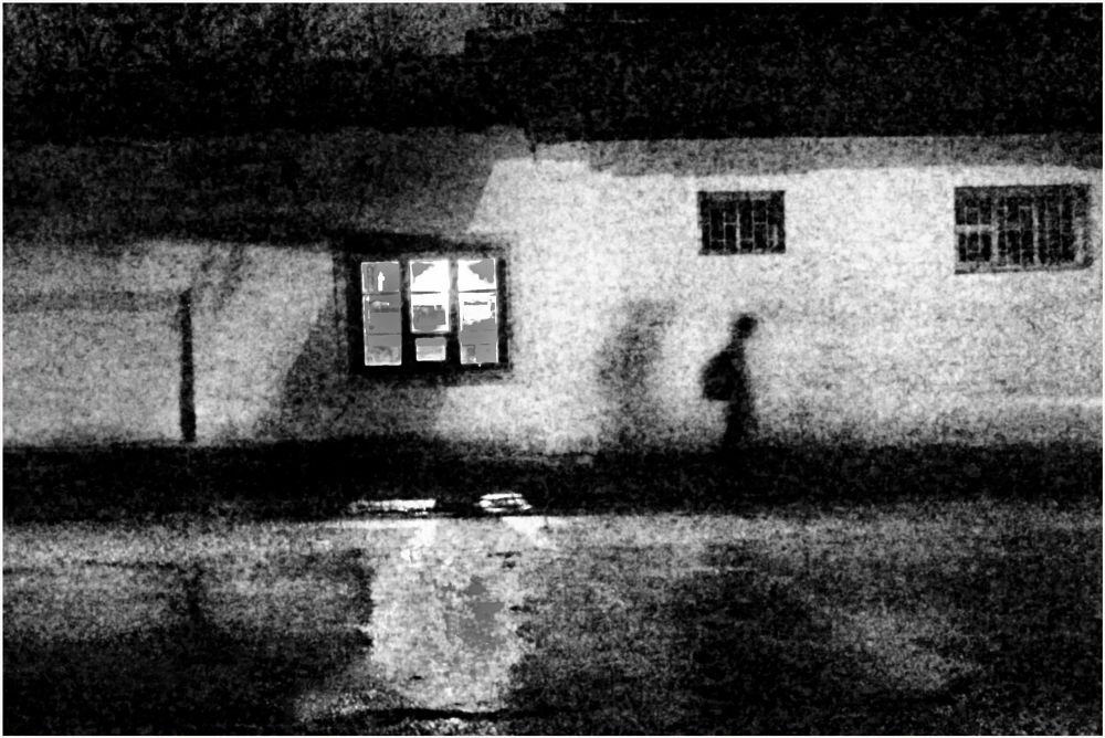 Photo in Street Photography #night #nighttime #light and shadow #people #town #experiment