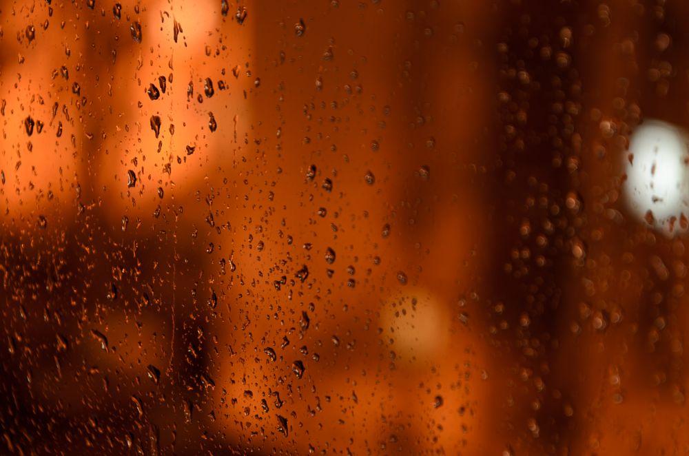Photo in Abstract #copper #rain #drops #window