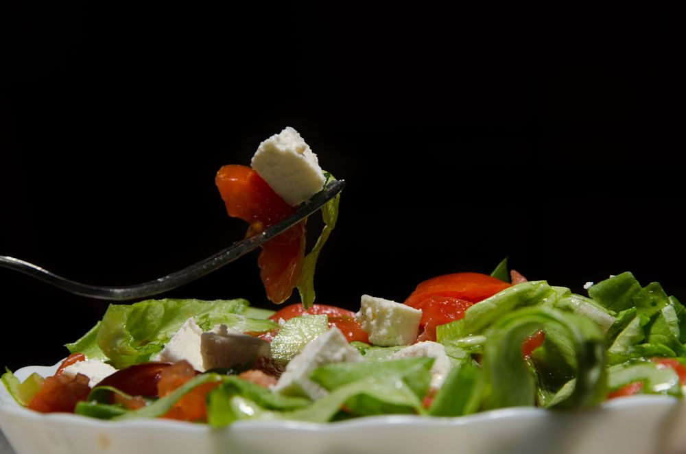 Photo in Food #salad #food #food photography #tomatoes #lettuce #cheeze