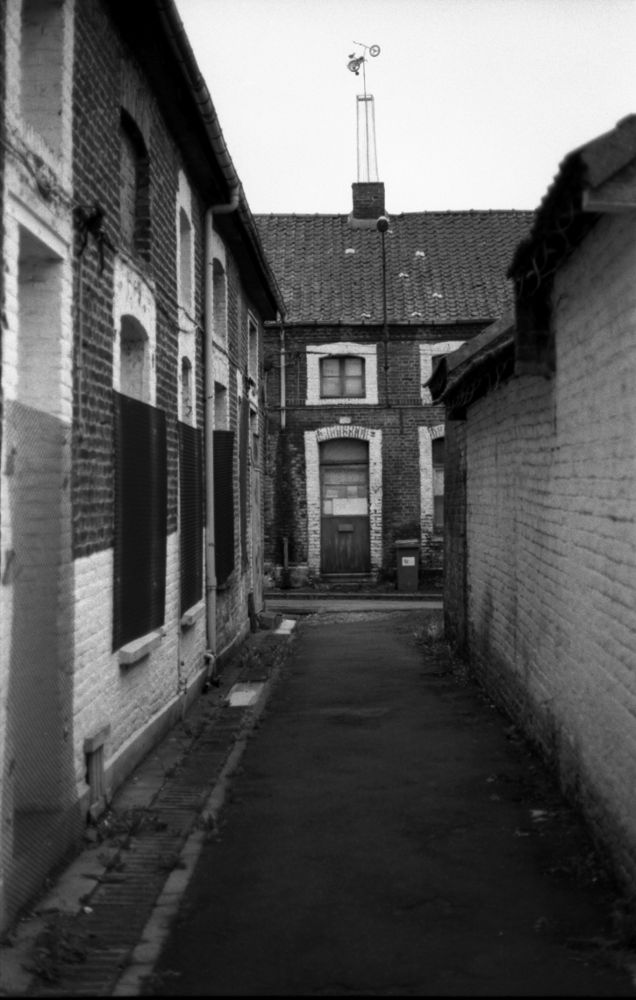 Photo in Black and White #miner #leica r9 #miner's house #mines #nord #pas de calais