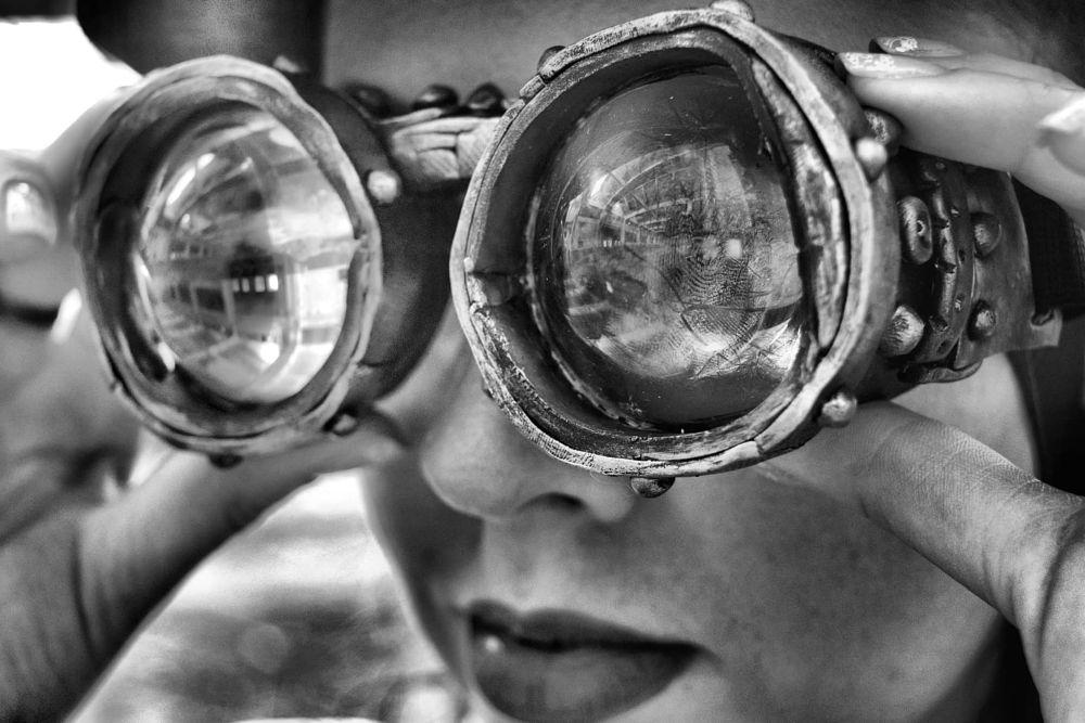 Photo in Portrait #steampunk #htphoto #goggles #bnw