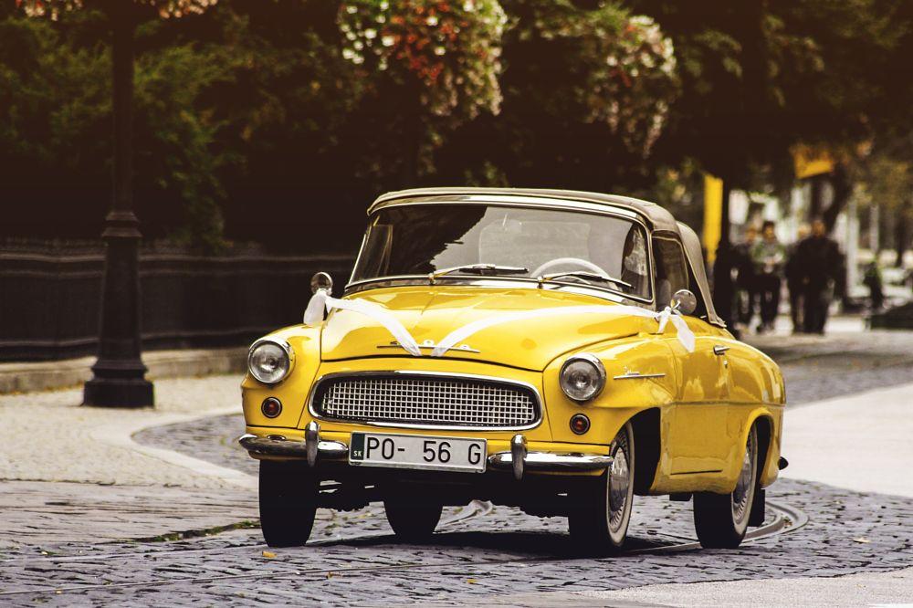 Photo in Vehicle #old #car #oldcar #kosice #kassa #slovakia #wedding #vintage #yellow