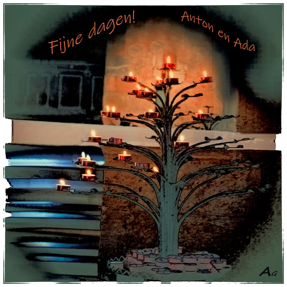 Photo in Random #abstract #collage #christmas #2020 #candle #light #tree #church #religion