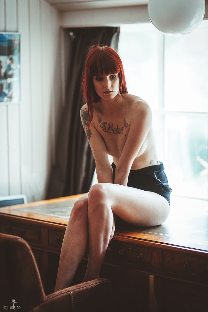 Photo in People #backlight #hidden nudity #inked #girl