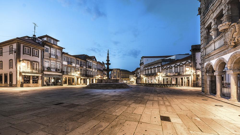 Photo in Cityscape #portugal #minho #viana do castelo #praça da republica #amanhecer