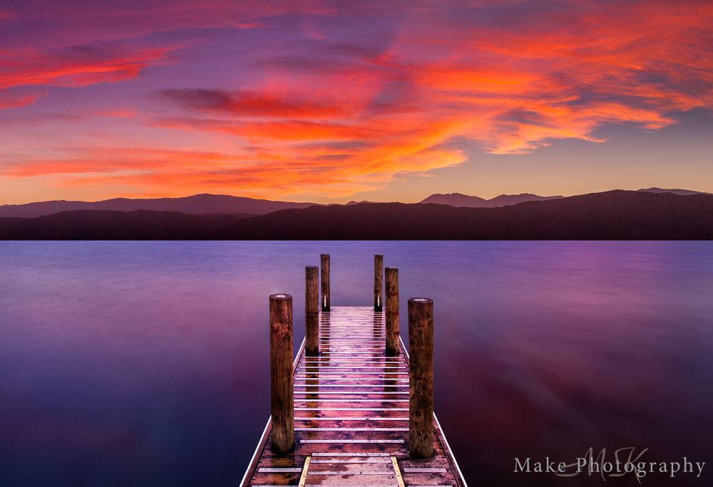 Photo in Landscape #landscape #sunrise #wharf #jetty #long exposure #clouds #red #still #peaceful