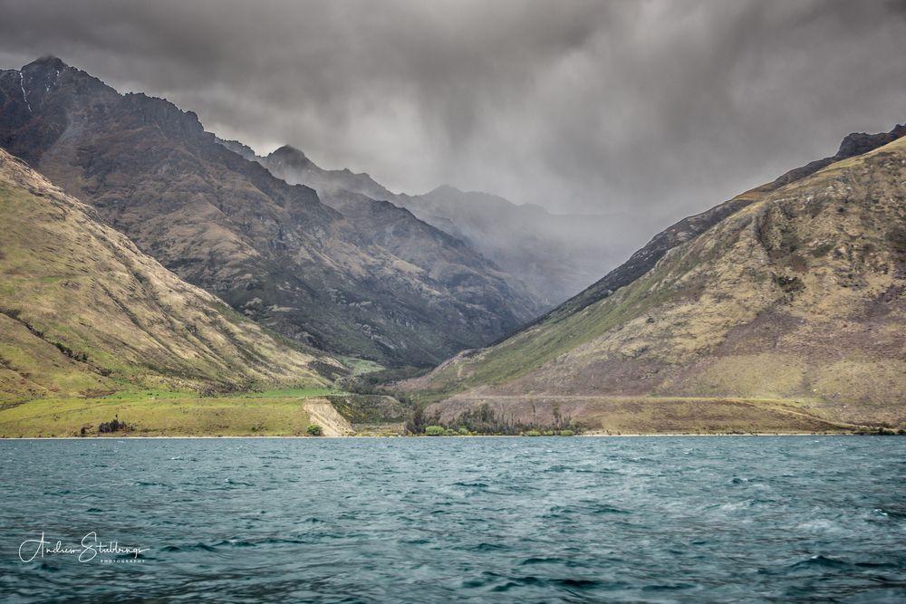 Photo in Landscape #rain #mountains #lake #snow
