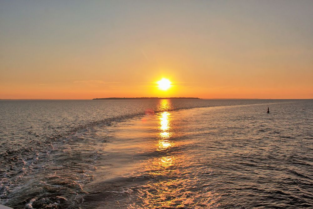 Photo in Travel #ven #island #sweden #skane #sunset