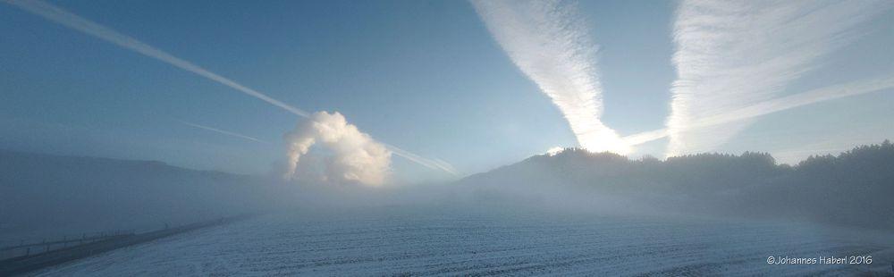 Photo in Landscape #fog #monochrome #landscape #morning #panorama