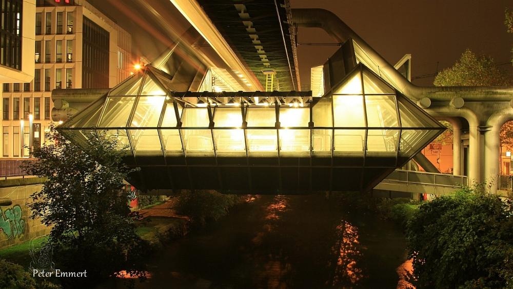 Photo in Architecture #nightshots #wuppertal #monorail